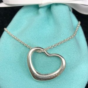 TC184  Silver Open Heart Necklace Peretti Pendant